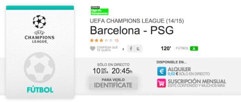FC Barcelona - PSG en Yomvi