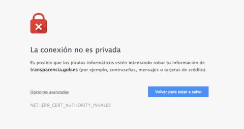 web de transparencia