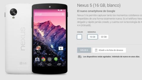 El Nexus 5 podría haber sido descatalogado, Google ya no fabricará más.