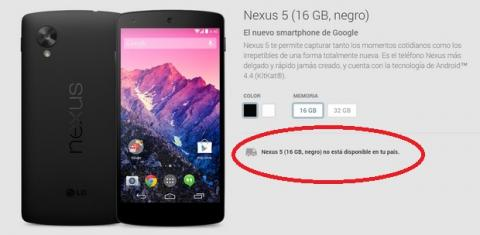Nexus 5 descatalogado