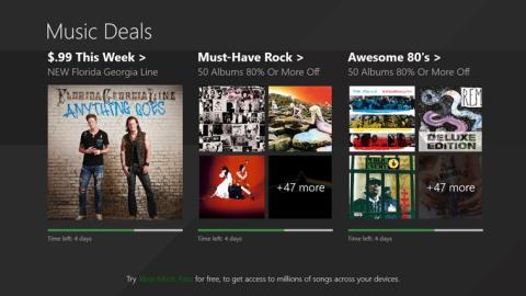 Microsoft regala música