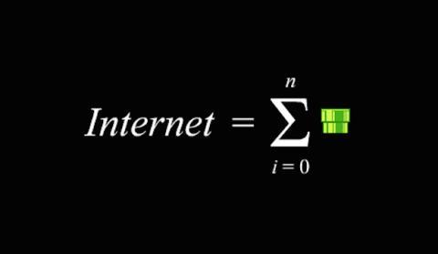 una serie de tubos Internet