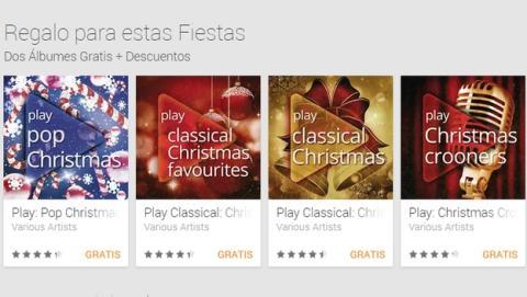 Google Play regala álbumes MP3 gratis con villancicos de Navidad
