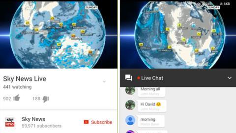 Youtube actualiza su app para chatear en vídeos en streaming