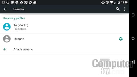 Perfil de usuarios en Android 5.0