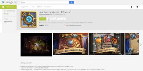Hearthstone ya disponible para Android