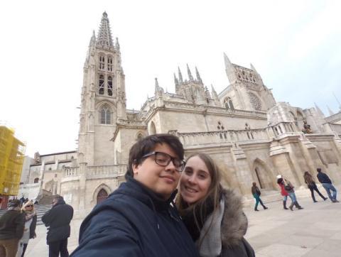 Selfie con la cámara Re en la Catedral de Burgos