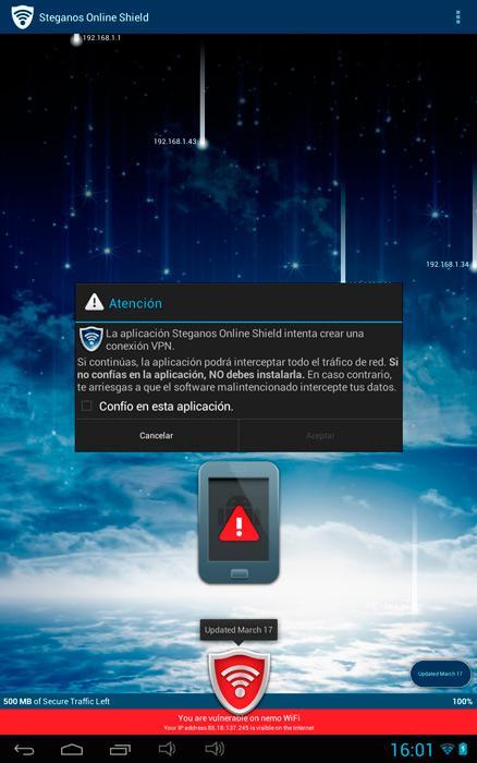 Navega seguro desde tu smartphone o tablet