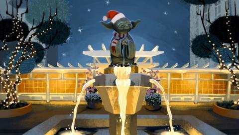 Star Wars te felicita la Navidad con esta postal animada.