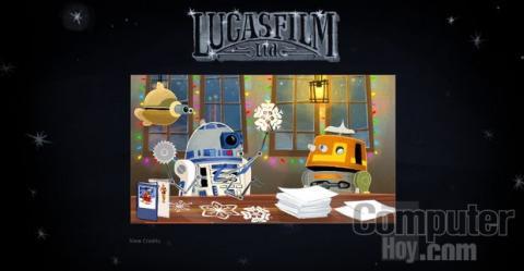 Postal de Navidad Star Wars