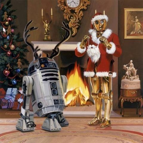 Postal Navidad Star Wars