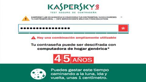 Kaspersky Lab lanza herramienta que analiza vulnerabilidad de contraseñas