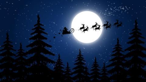 Cómo ver a Papa Noel volando sobre las estrellas en Navidad