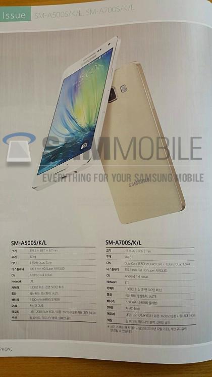 Samsung Galaxy A7, filtradas sus características