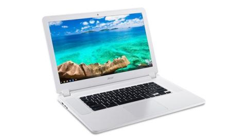 Acer desvela el Chromebook más grande del mundo, Acer Chromebook 15, con pantalla de 15 pulgadas, en CES 2015.