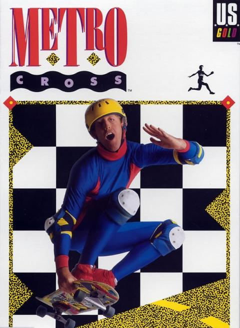 Metro Cross videojuego con una de las peores portadas