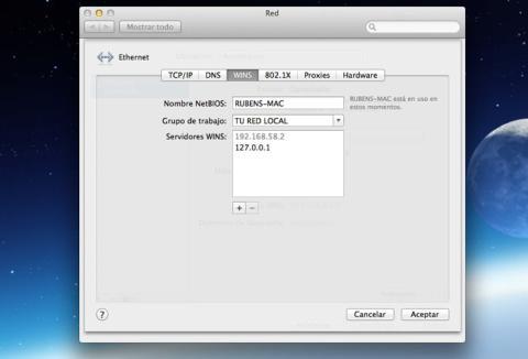 Únete al grupo de trabajo desde un Mac
