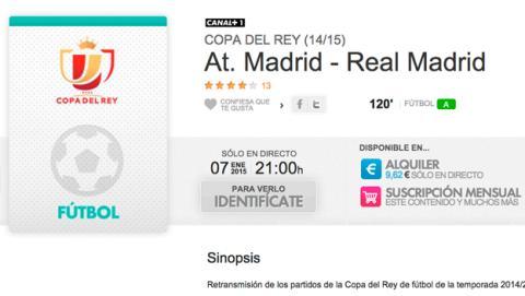 Atlético Madrid Real Madrid online en directo