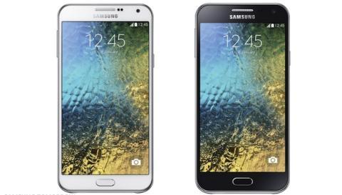 Los nuevos smartphones Galaxy E7 y E5 de Samsung