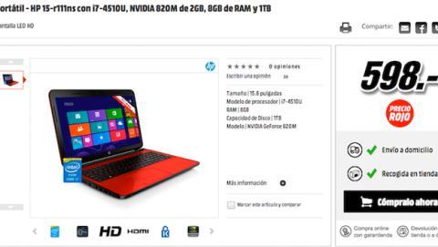 Precios Rojos Media Markt Portátil HP