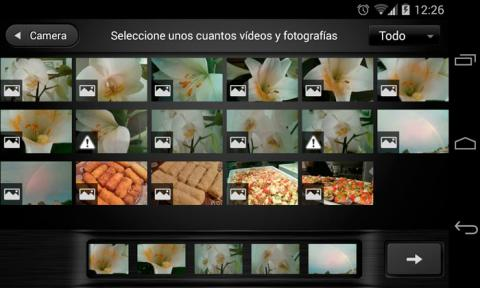 Añade fotos y vídeos a tu proyecto