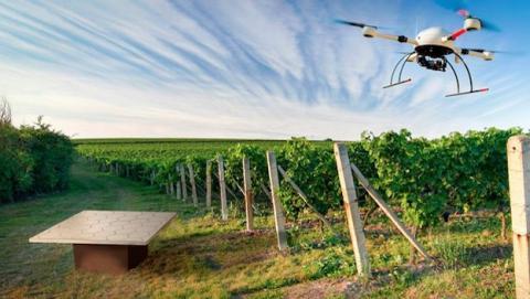 Almohadilla de recarga para drones