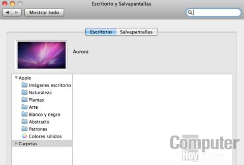 cambiar fondo de pantalla en Mac