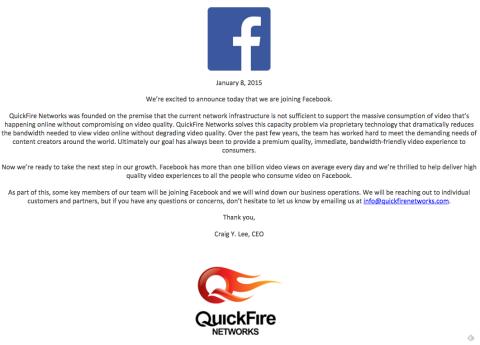 comunicado quickfire