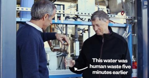 Bill gates bebe agua proveniente de heces