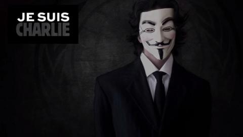 Anonymous lanza su primer ataque para vengar a Charlie Hebdo.