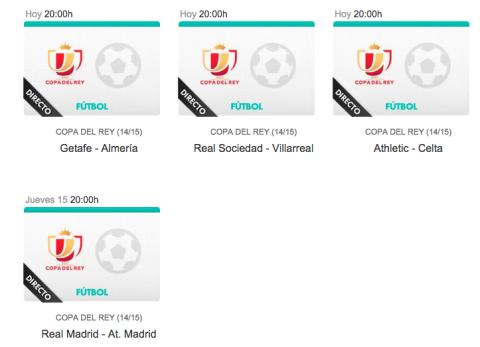 dónde ver online Real Madrid Atlético de Madrid de Copa