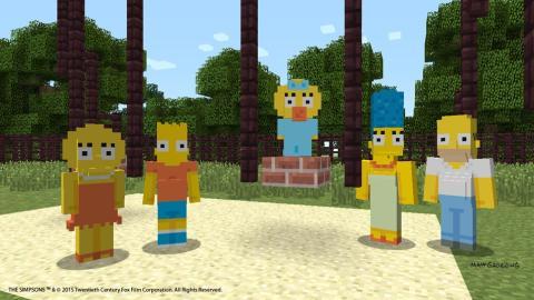 Simpsons dentro del universon Minecraft