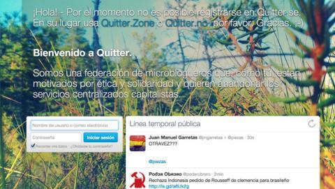 Quitter red social twitter