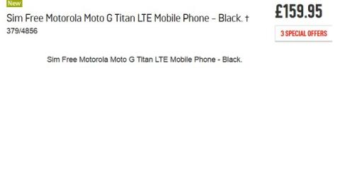 Moto G Titan se filtran precio y características