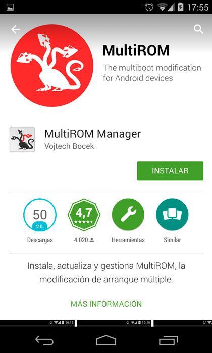 Instala MultiROM Manager