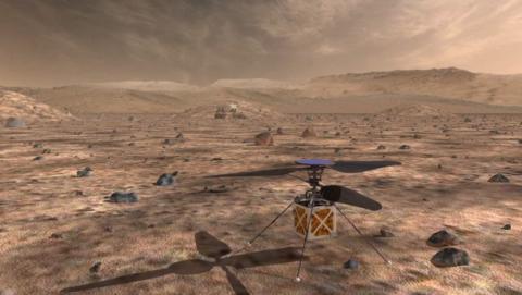 Este es el drone de la NASA que volará sobre la superficie de Marte