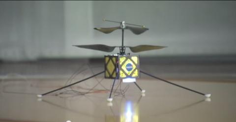Drone volado de la NASA para explorar Marte
