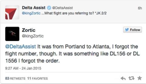 Amenaza a vuelos en Twitter