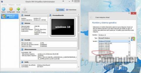 El asistente de configuración de VirtualBox es sencillo y claro