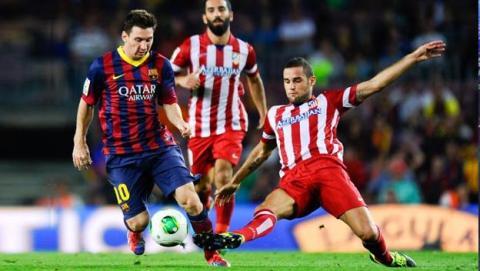 Messi contra Mario Suárez