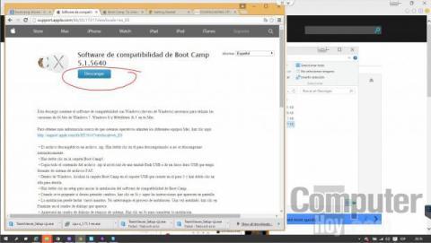 Bootcamp está disponible en las páginas de soporte de Apple