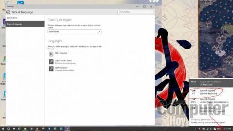 Aunque cambies el teclado a ESP en el menú indicado, Cortana seguirá funcionando