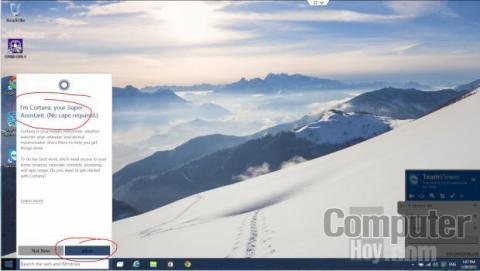 Al activar Cortana tendremos que pasar por un sencillo asistente de puesta a punto