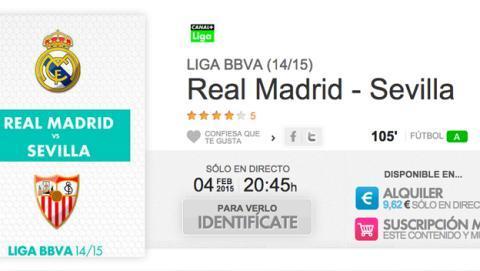 Dónde y cómo ver online Real Madrid Sevilla