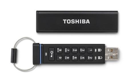 Toshiba lanza un pendrive USB 2.0 encriptado con teclado incorporado.