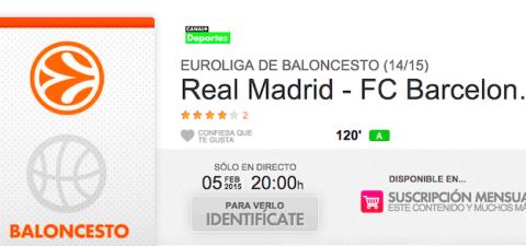 Real Madrid Barcelona en Yomvi verlo online
