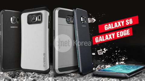 Uno de los diseños del Samsung Galaxy S6 hecho por el fabricante de fundas Verus que muestra un Galaxy S6 con pantalla curvada