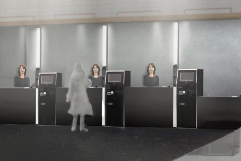 robots hotel japón