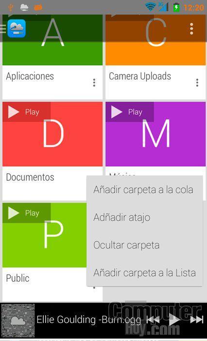 Streaming de música en Dropbox desde tu Android