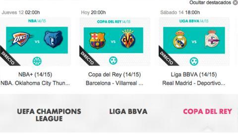 ver en Yomvi Barcelona Villarreal
